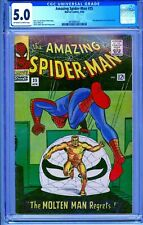 CGC 5.0 AMAZING SPIDER-MAN #35 2ND APPEARANCE MOLTEN MAN OW/W PAGES SPIDERMAN