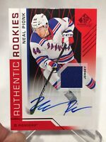 NEAL PIONK 2018-19 SP GAME USED AUTO JERSEY ROOKIE RC RED ! JETS🏒❗️SEND OFFER❗️