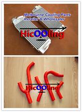 KTM 250/300/380 SX/EXC 1998-2003 99 2000 2001 2002 aluminum radiator + red hose
