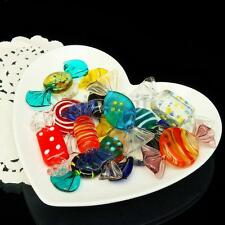 12pcs Vintage Murano Glass Sweet Color Candy Lolly Wedding Party Festival Decor
