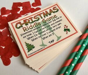 Christmas New Year Adult Humour Party Drinking Games Riddle Cards Virtual Zoom
