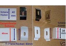 Deckenclip Montageclip für Lamellenvorhang Vertikaljalousie weiß silber 1Stk neu