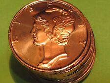 Mercury Head  UNC  PROOF 1 oz .999 pure copper..combine shipping save $$$