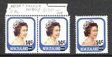 NEW ZEALAND 1979 10c QUEEN 'MISSING FLESH COLOUR' ERROR PAIR (UHM)