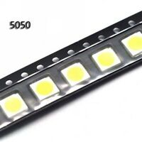 100PCS 5050 Super Bright White SMD LED 5mm×5mm×1.6mm
