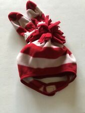 New Baby Gap Boy's  XS/S Mitten Hat Set Red White Fleece