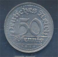 Deutsches Reich Jägernr: 301 1919 E Stgl./unzirkuliert 50 Pfennig (7879641