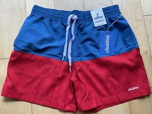"NWT Chubbies Men's Liberties 5.5"" Swim Trunks (Magic Print) Liner USA Red Blue"