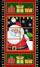 "1 Fabric Panel Jolly Ole St Nick Christmas Santa Fabric Panel 23"" x 42"" 4795-018"