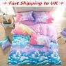 3/4Pc Cloud Sky Bedding Set Pillowcase Quilt Duvet Cover Single Double King Size