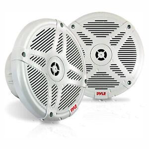 Pyle PLMR652W 6.5 Inch Waterproof 2 Way Outdoor Boat Speaker System Pair, White