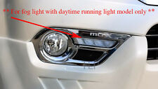 ALL NEW ISUZU MU X MU-X SUV LED FOG LAMP SPOT LIGHT COVER CHROME TRIM 2013-2015