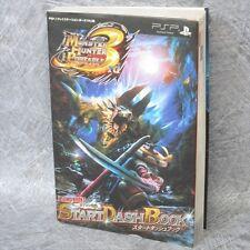MONSTER HUNTER PORTABLE 3rd Start Dash Book w/Poster Game Guide Japan PSP VJ769*