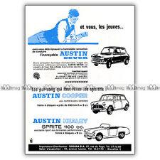 PUB AUSTIN BMC MINI COOPER HEALEY SPRITE & SEVEN Original Ad / Publicité 1963 #2