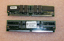 QTY (2) CENTON  4mb 1x36, 1x16 60ns SIMM  MODULE QDNS20-45943-17 CKCGF6JF1XS283T