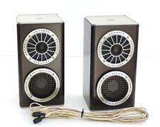 2x GRUNDIG TL-100 SUPER HiFi BOX 2-Wege Lautsprecher/Two-Way Speaker + Kabel