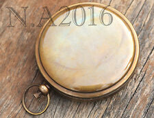 Antique Brass Push Button Compass Collectible Vintage Pocket Marine Compass Gift
