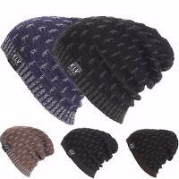 Mens Ladies Knitted Winter Oversized Slouch Beanie Hat skateboard Cap