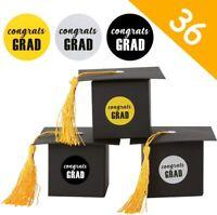36 Graduation Party Favor Gift Box Grad Cap Sweets Boxes Graduation Party Supply