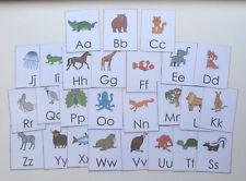 Teacher Made Learning Resource Alphabet Card Flashcards Animal Theme