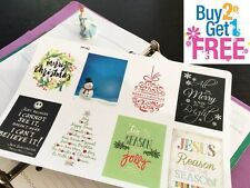PP162 -- Winter Inspirational Quoes Life Planner Stickers for Erin Condren 8pcs