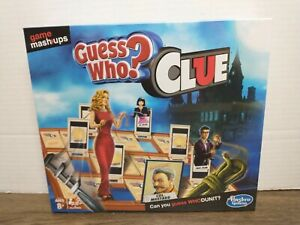 Guess Who? Clue Game Mashups Hasbro Board Game Gaming Party Family Fun Kids New