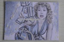 DR WHO RIVER SONG COLOUR SKETCH CARD BY Wu Wei -2011