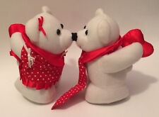 Vintage Avon Kiss Me Cubs Valentine's Day Bear Magnetic Noses Couple - Cute Pair