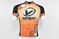 Verge Men's Race S/S Cycling Jersey, Orange/White, Size Small, Brand New
