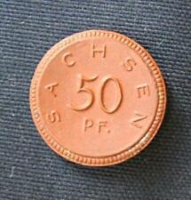 Porceleinen munt Duitsland/Germany: 50 Pfennig Sachsen 1921 in Prachtig