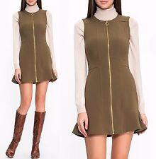 Michael Kors Luxus Kleid/Jersey Kleid mit Reißverschluss Duffle Gr.36/S  Neu!