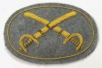 CIVIL WAR CONFEDERATE CS CAVALRY CROSSED SABERS HAT CAP KEPI INSIGNIA-LARGE