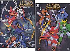 10 Dvd x 2 Box Cofanetto I CINQUE SAMURAI TROOPERS + OAV serie completa nuovo