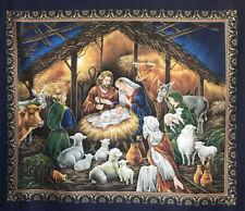 Bethlehem Nativity Christmas Quilting Fabric Panel Jesus Mary Relgious *New*