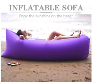 Inflatable Air Bag Sofa Lounge Sleeping Bag Camping Bed Chill Chair Beach Couch