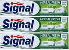 3 x 75ml SIGNAL herbal fresh fluoride and calcuim toothpaste