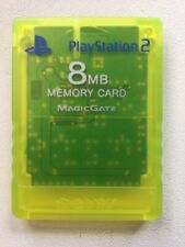 Official Genuine OEM Sony PlayStation 2 PS2 Memory Card Yellow Lime Green 8MB