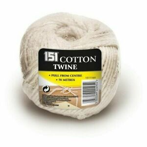 70M COTTON TWINE - Pull from centre String Ball Grey Strings Rope Household home