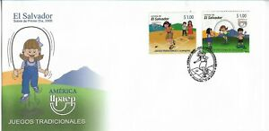 EL SALVADOR 2009 TRADITIONAL GAMES CHILDREN AMERICA UPAEP ISSUE 2009 FDC COVER