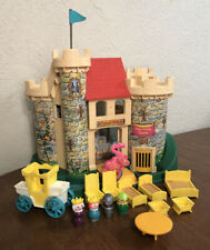 "Vintage Fisher Price Little People ""Play Family Castle"" #993  W/Carriage"