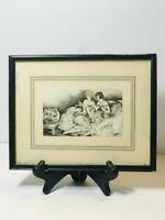 Antique J. Dorval 1920s French Art Deco Aquatint Print Boudoir Ladies Fishbowl