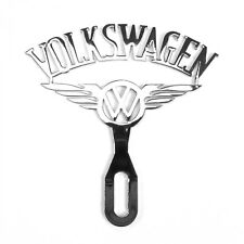 Vintage Volkswagen VW Chromed License Plate Topper with Wings