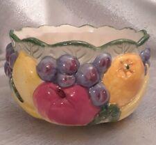 Fitz and Floyd Vintage 1989 Ceramic Fruit Bowl Calypso