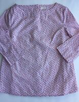 CREWCUTS Girl's Floral Print Top Buttons On The Back Pockets Spring #A18
