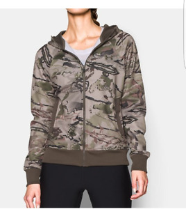 Under Armour Women's Camo Full Zip Hunting Hoodie -  MED NWT $85