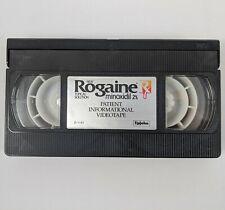 Rogaine Minoxidil Patient Informational Videotape UpJohn D-1181 VHS Tape Vintage