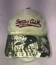 Real Tree Texas A&M Camo Strap back Cap Hat Adult