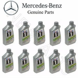 Set of 10 Engine Oils Low Ash MOBIL 1 ESP X1 0W-30 For Mercedes W166 W207 X166