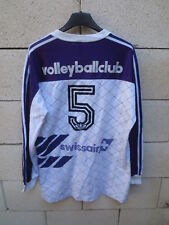 Maillot VOLLEY BALL CLUB SWISSAIR vintage ADIDAS trikot shirt porté #5 trefoil M