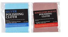1 X JEWELLERS ROUGE CLOTH AND  SILVER CLEANING CLOTH PACK